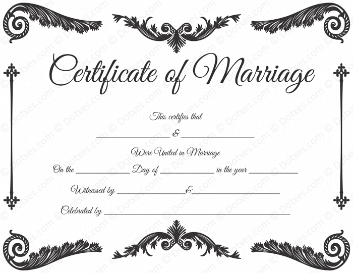 Ambitious image regarding printable marriage certificate