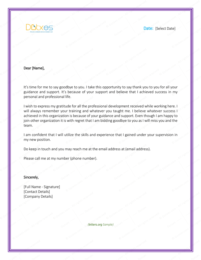 letter appreciation to boss thank you letter to 8 plus best samples and templates 17350 | Appreciation Letter to Boss Farewell Page 1