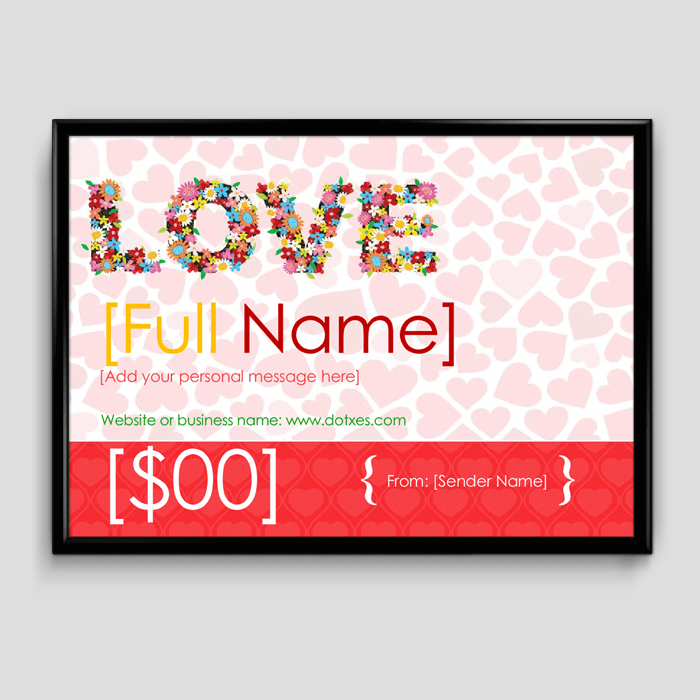 Gift Certificate Template for Word 1