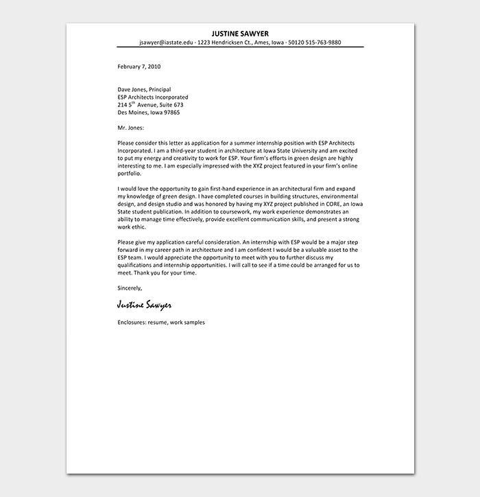 Photographer Cover Letter
