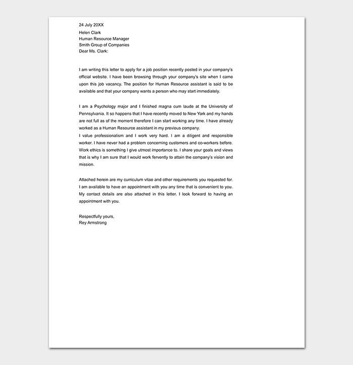 Professional Restaurant Cover Letter
