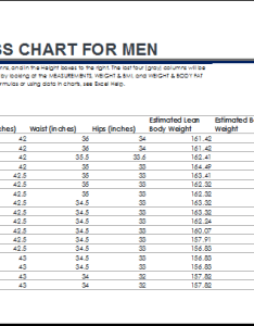 Fitness and weight loss chart for men progress also templates word  excel rh dotxls