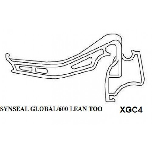 Synseal Global 600 Lean-To Gutter Brackets (XGC4) (pack of 5)
