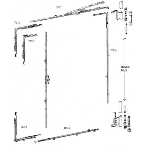 SI Siegenia Tilt and Turn Drive Gear Window/Door Lock
