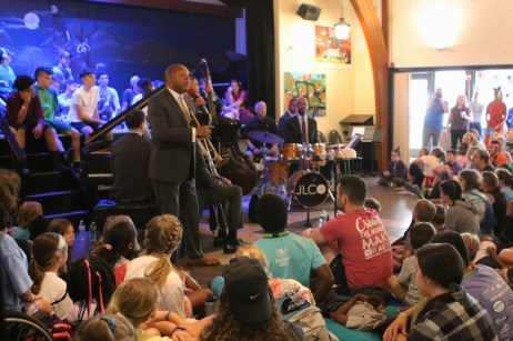 musicians perform for campers