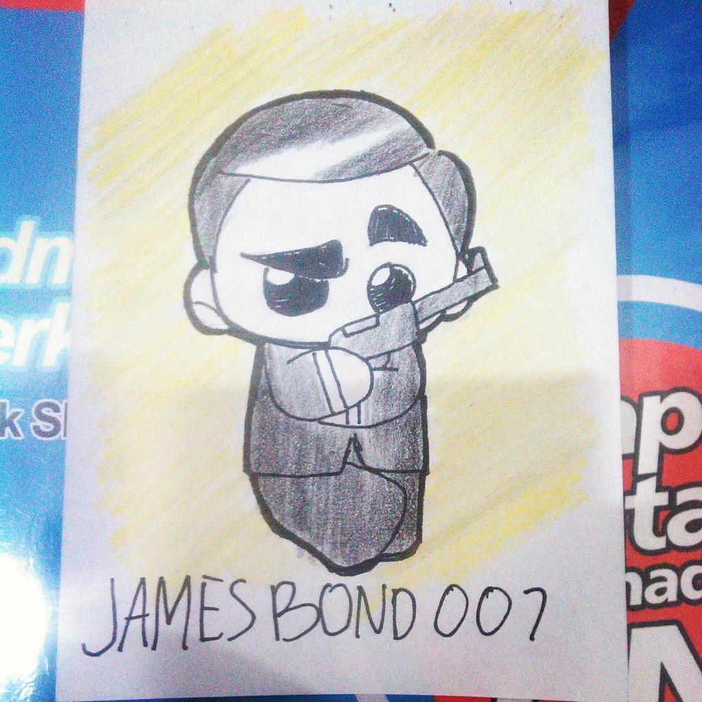 chibi james bond 007 By farizshadier