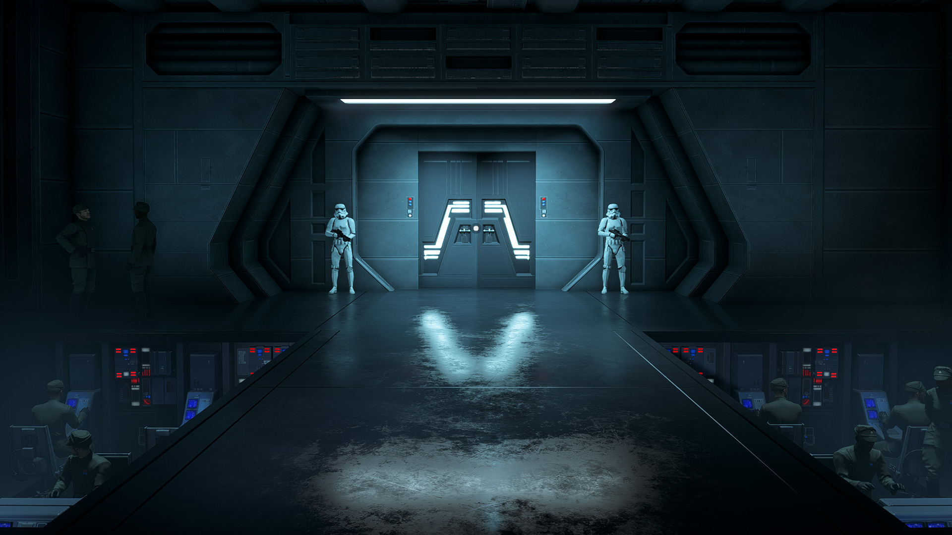 An interior Overseer shot from STAR WARS: Squadrons