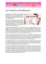 Are You In Love Or Obsessed?