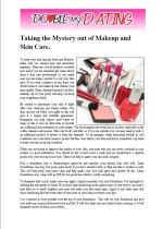 Taking The Mystery Out of Makeup And Skin Care.