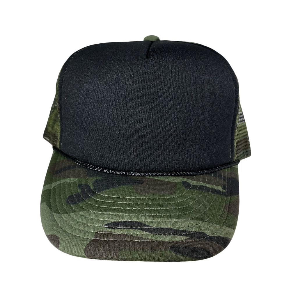 blank-hat-snapback-foam-trucker-black-camo-front