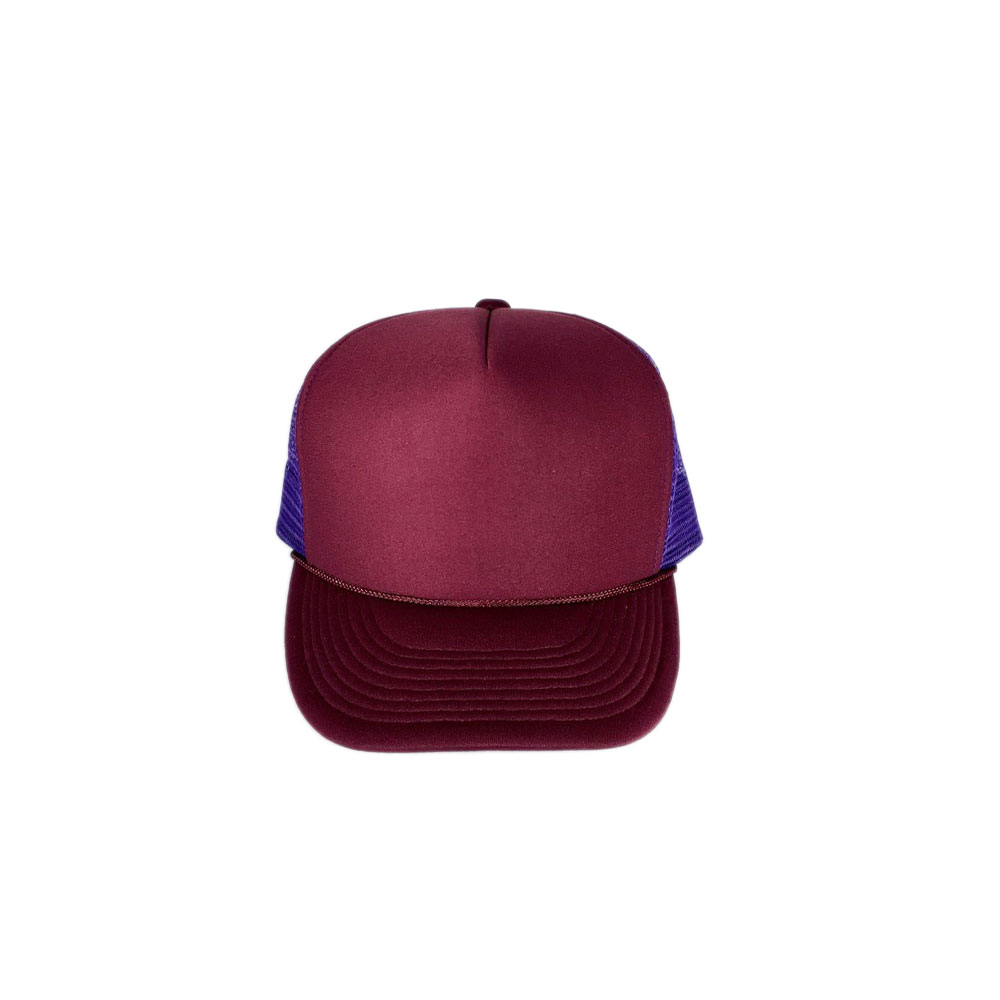 burgundy-Purple-Mesh-Foam-Trucker-Hat