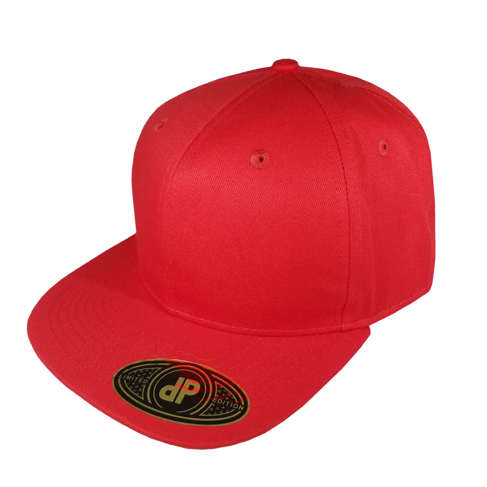 Solid-Red-Flatbill-Snapback-Hat