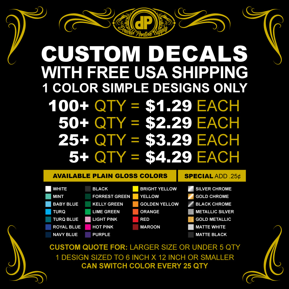 Decals-PRICING