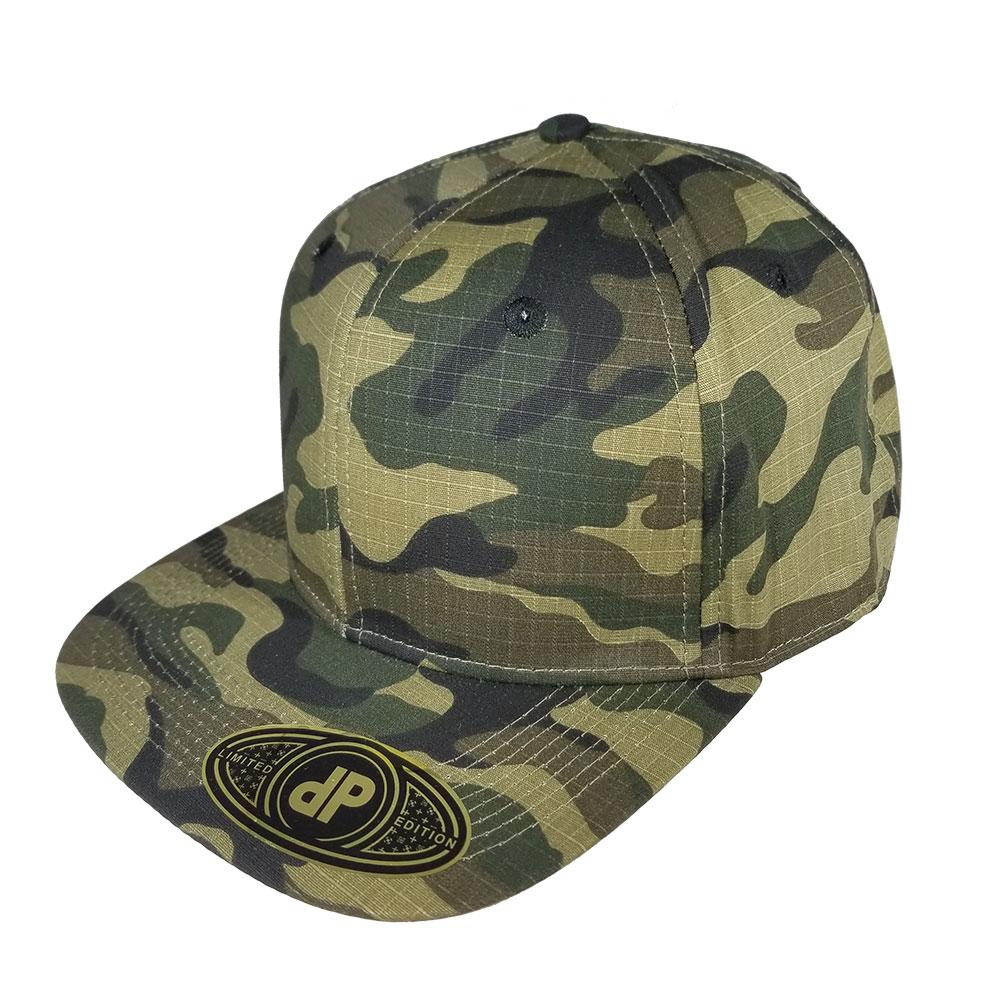 2e402271f64 Blank Hat Snapback Flatbill  Full Woodland Camo – Double Portion Supply