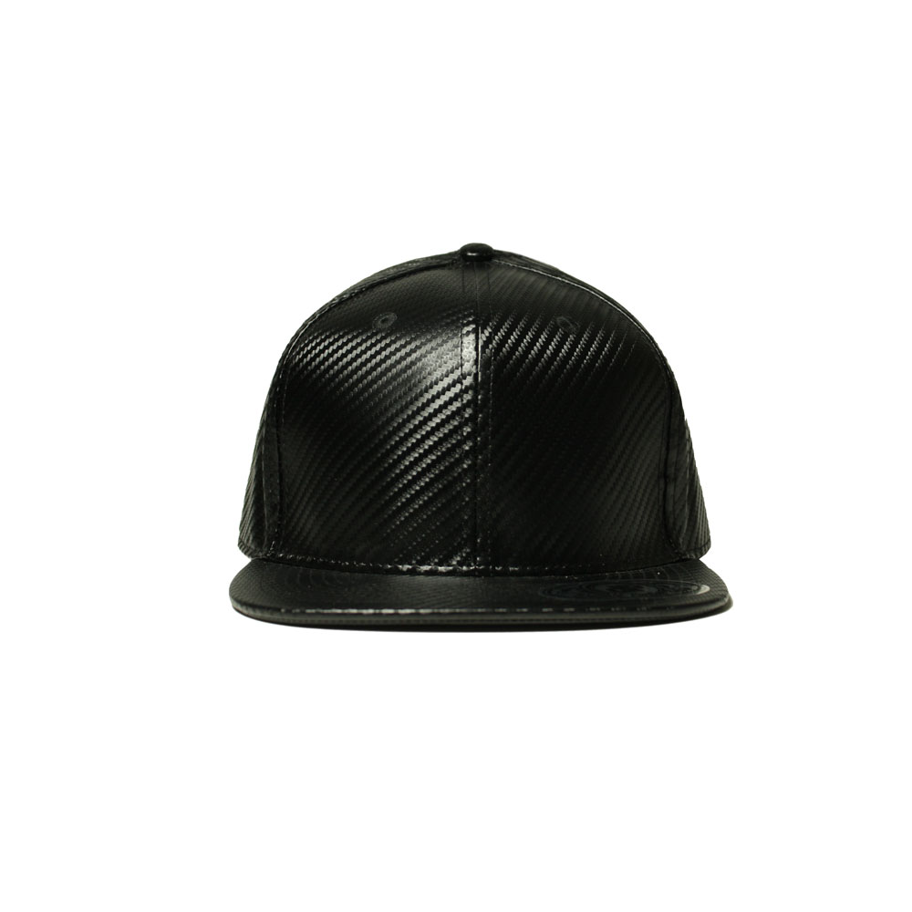 Blank Hat  Full Black Carbon Fiber Flatbill Snapback – Double ... 7b116d4cac4
