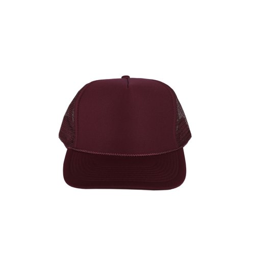 Solid-Maroon-Foam-Trucker
