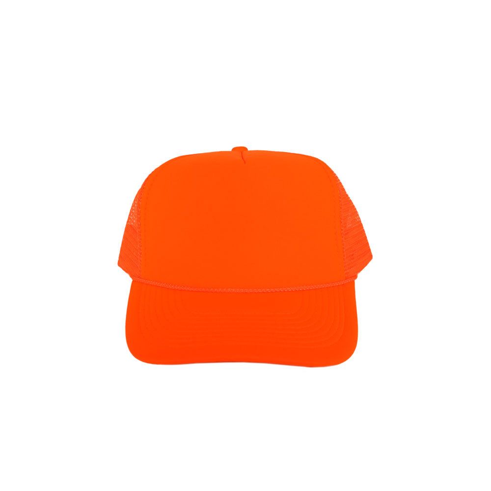 Solid-Neon-Orange-Foam-Trucker