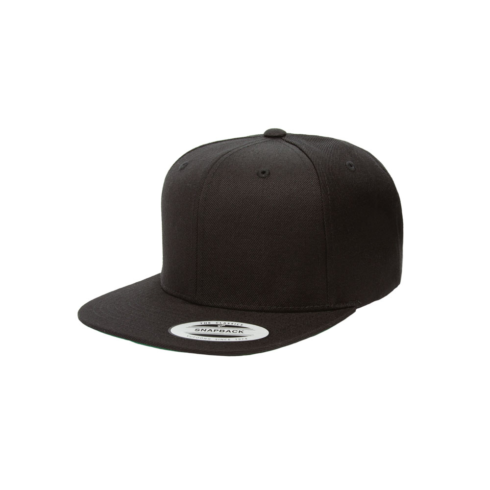 697d7371e92 Home   All Hats   Snapbacks   Solid Snapbacks   Blank Hat  Flexfit Yupoong  6089M Solid Black Flatbill Snapback
