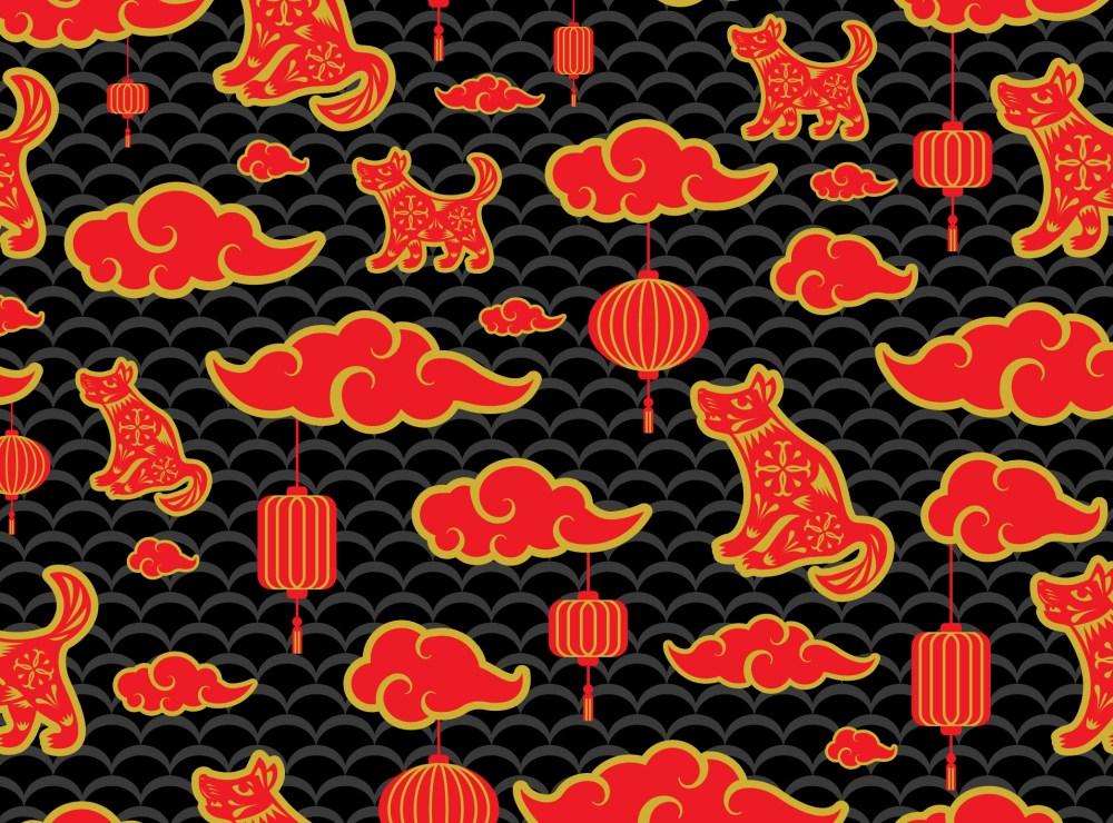 year of dog pattern web
