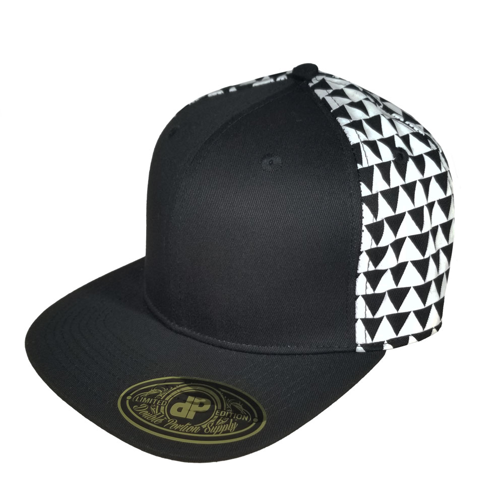 f5e22d54d70 Home   All Hats   Snapbacks   All Snapbacks   Blank Hat  White and Black  Triangles Flatbill Snapback