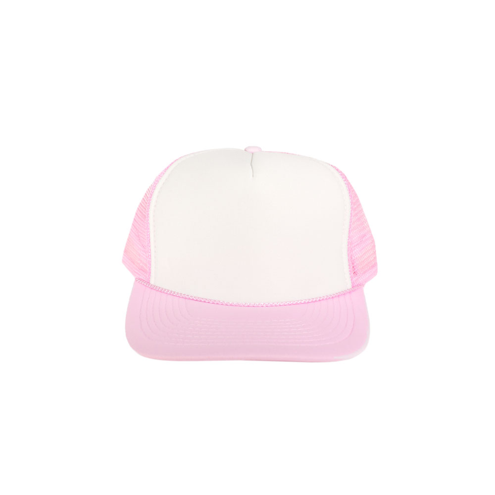 74be72d8 Blank Hat: White / Light Pink Foam Trucker (Large/Adult Size ...
