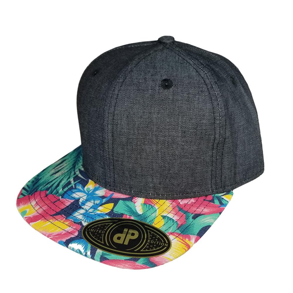 Black-Denim-Ginger-Denim-Bill-Snapback-Hat