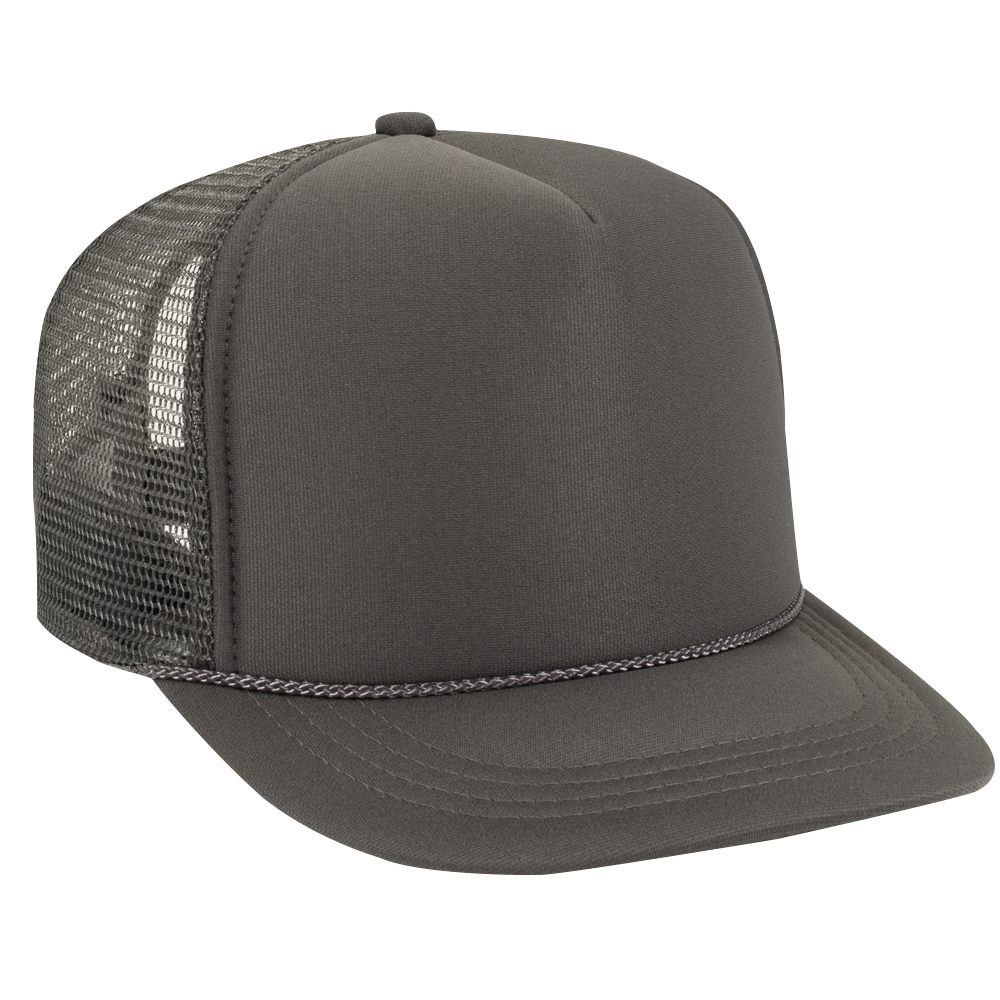 Charcoal Gray Youth Foam Trucker Front