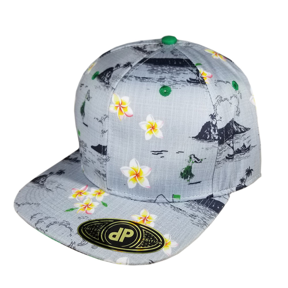 Gray-Kelly-Green-Oahu-Golf-Snapback-Flatbill-Hat