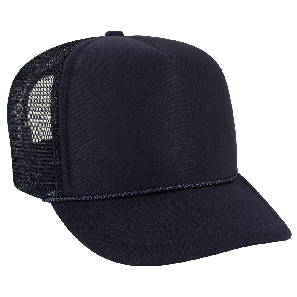 Navy Blue Youth Foam Trucker Front