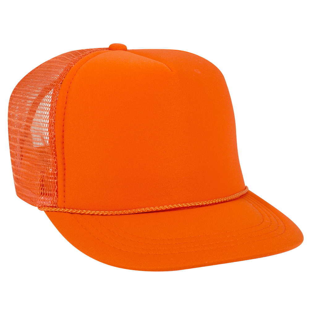 Orange Youth Foam Trucker Front