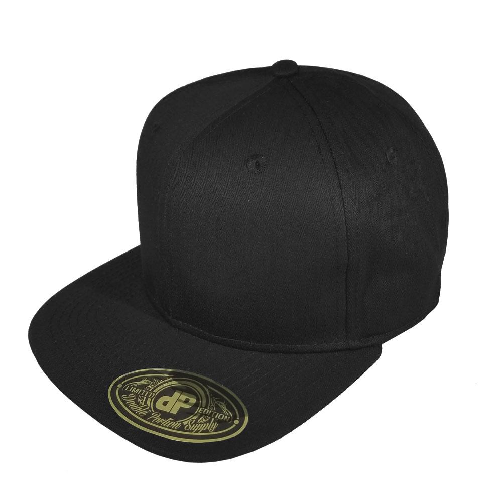 4ab77952de9 Blank Hat Snapback Flatbill  Solid Black Flatbill Snapback