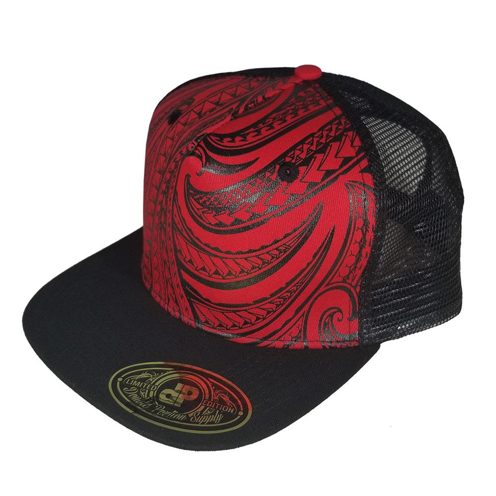 ecf2a4d18adf4 Blank Hat Snapback Flatbill  Red Tribal   Black Mesh