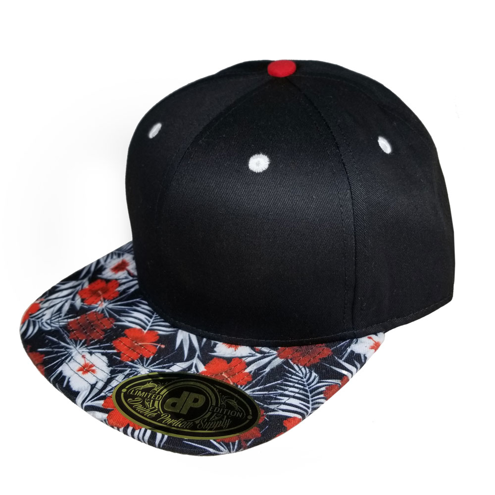 Black-and-Red-Hibiscus-Bill-Snapback