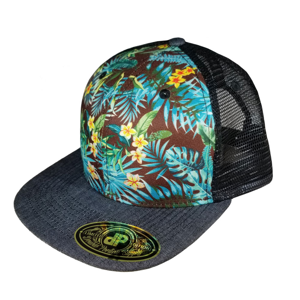 Palm-mesh-denim-bill-Snapback