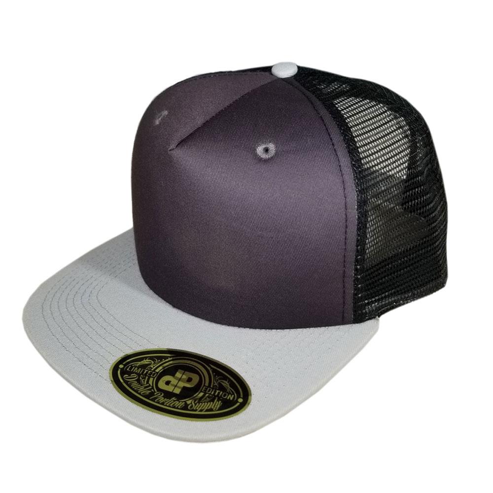 Mix-Gray-Black-Mesh-Hat-Snapback