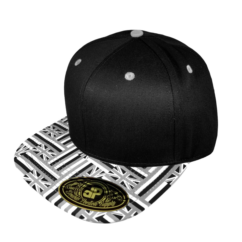 Hawaiian-Flag-Bill-Grayscale-Snapback