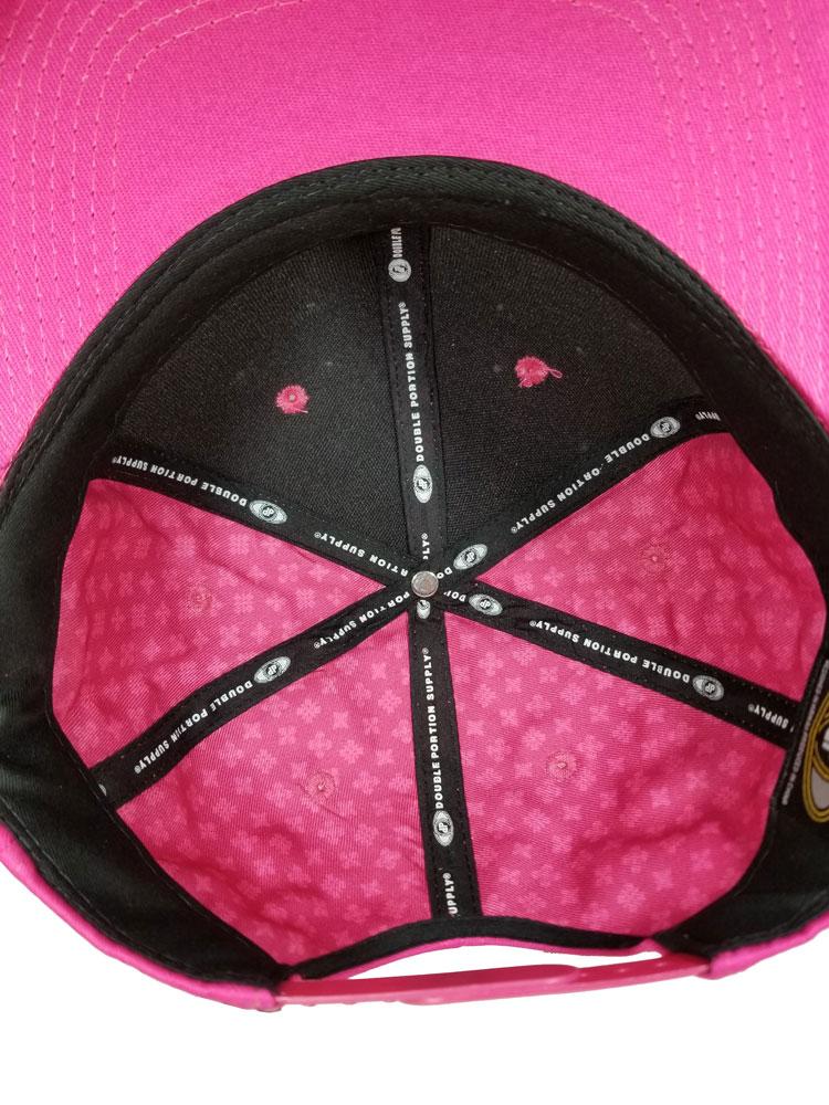All-Full-Solid-Hot-Pink-Flatbill-Inside-Snapback-Hat