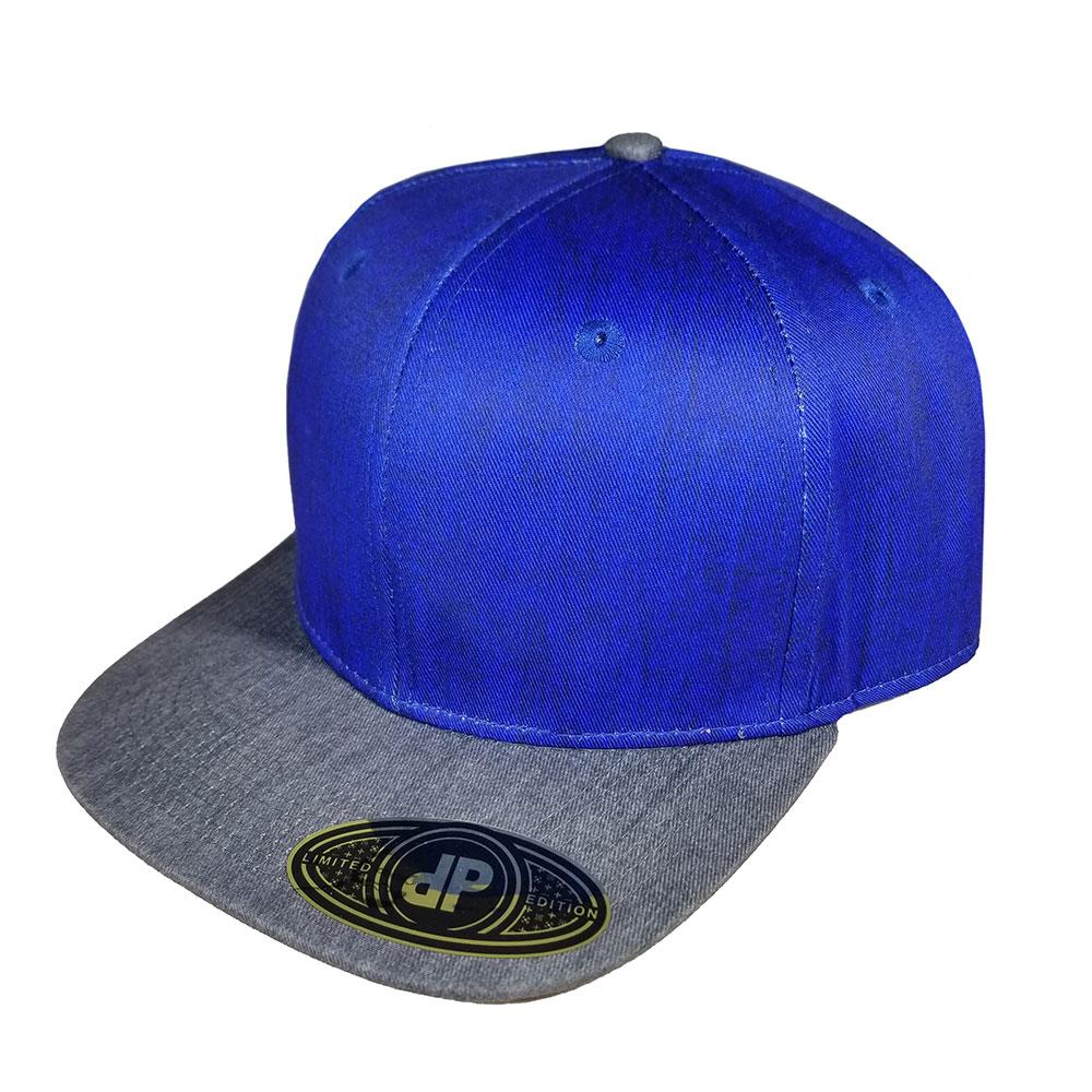 Royal-Denim-Gray-Denim-Bill-Snapback-Hat