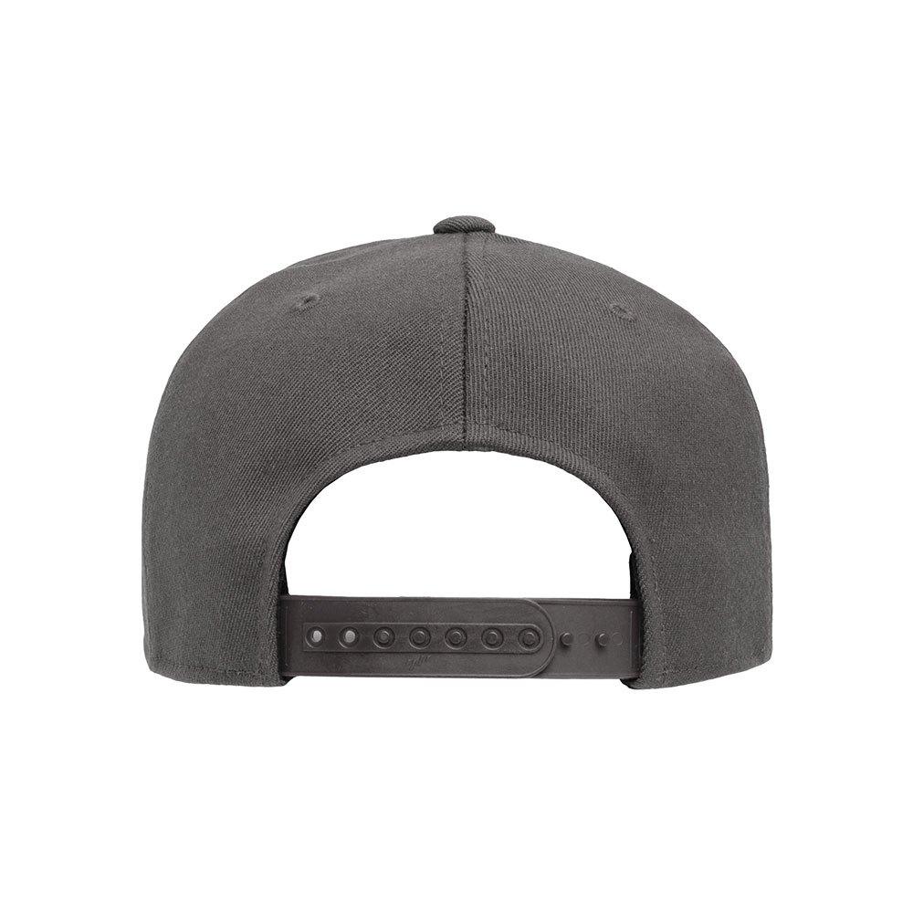 Flexfit-110F-Flatbill-Snapback-Dark-Gray-Grey-Hat-back