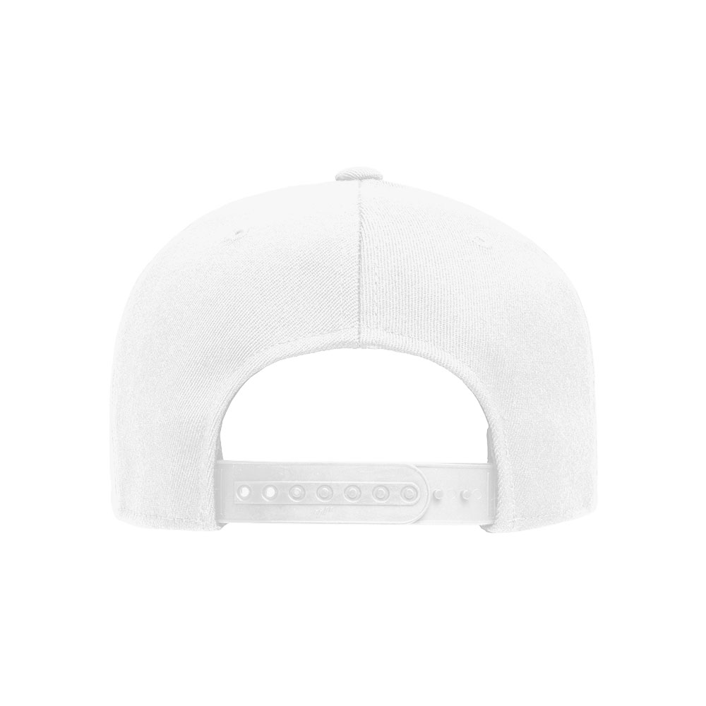 Flexfit-110F-Flatbill-Snapback-White-Hat-back