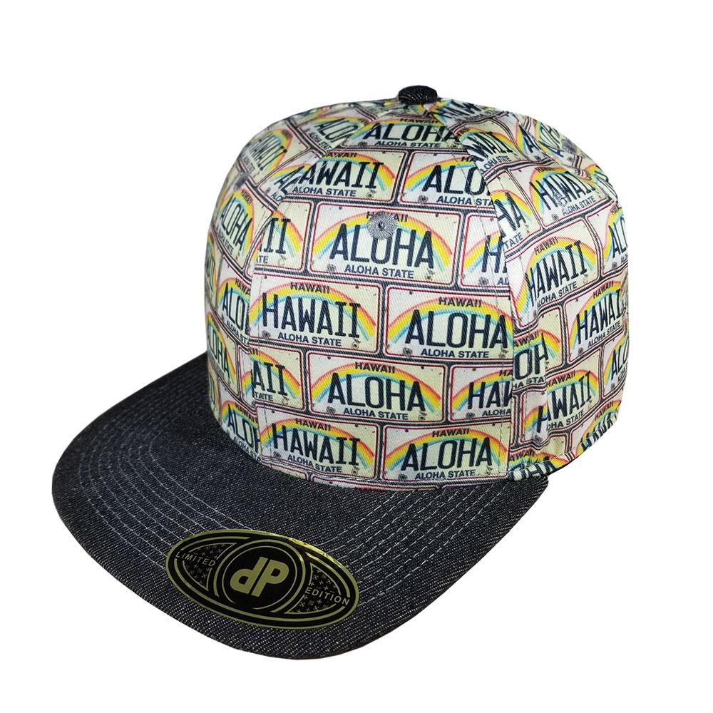 Aloha-Hawaii-License-Plate-Snapback-Flatbill-Hat