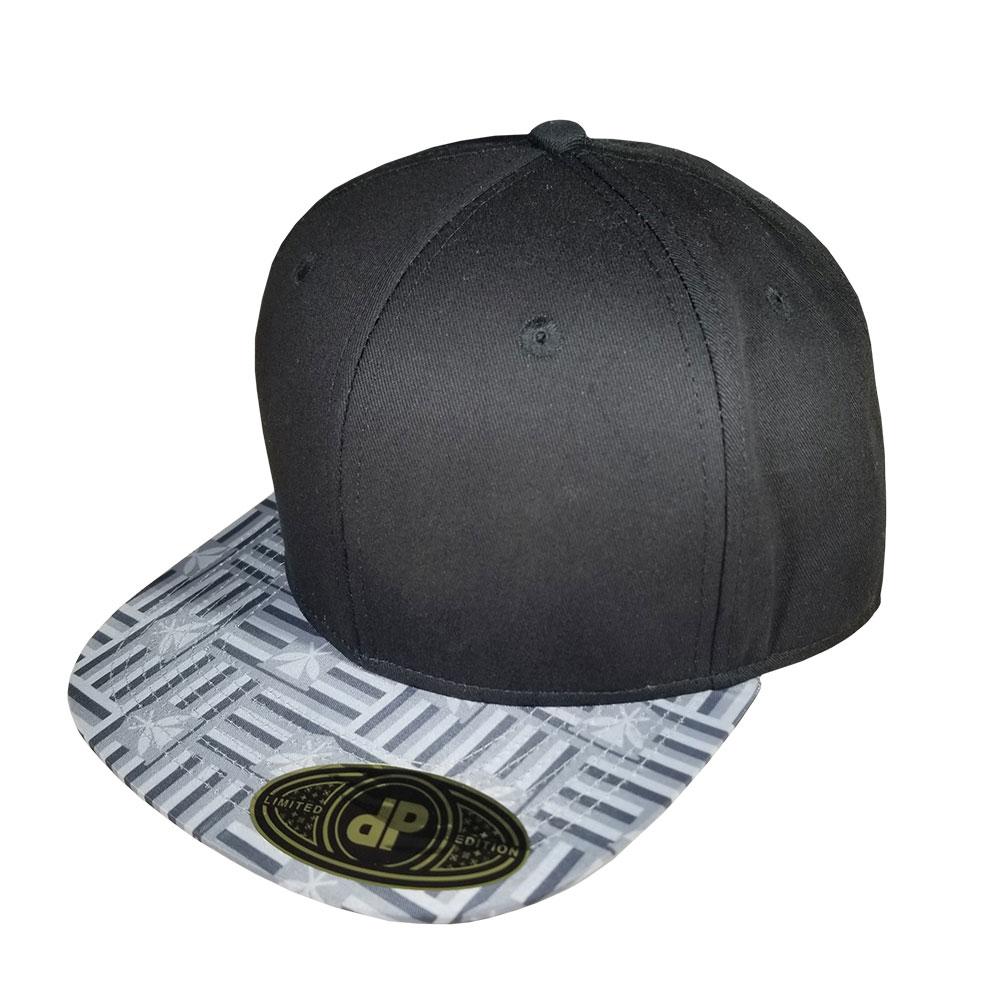 Maoli-Flag-Grayscale-Bill-Floral-Snapback-Flatbill-Hat-Cap