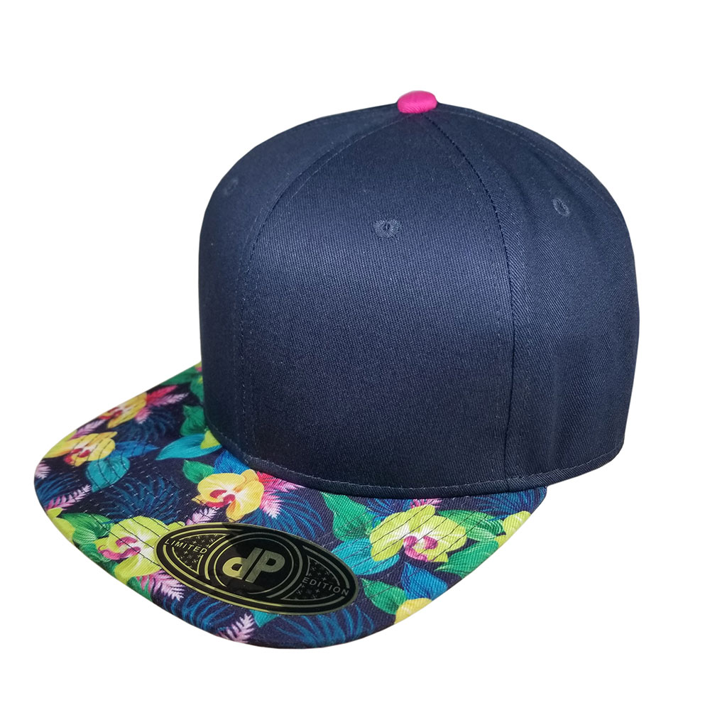 Ginger-Navy-Hot-Pink-Snapback-Flatbill-Bill-Hat-Cap
