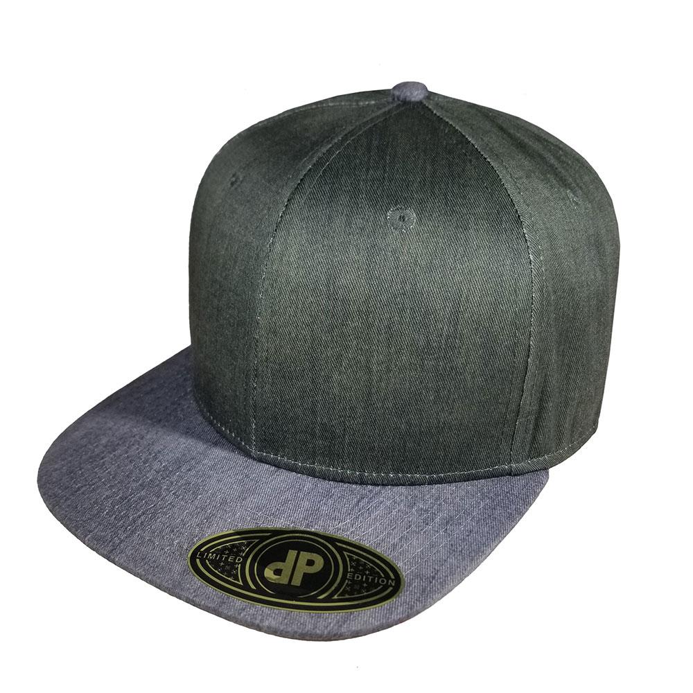Olive-Heather-Dark-Black-Denim-Heather-Gray-Grey-Snapback-Curved-Bill-Hat-Cap