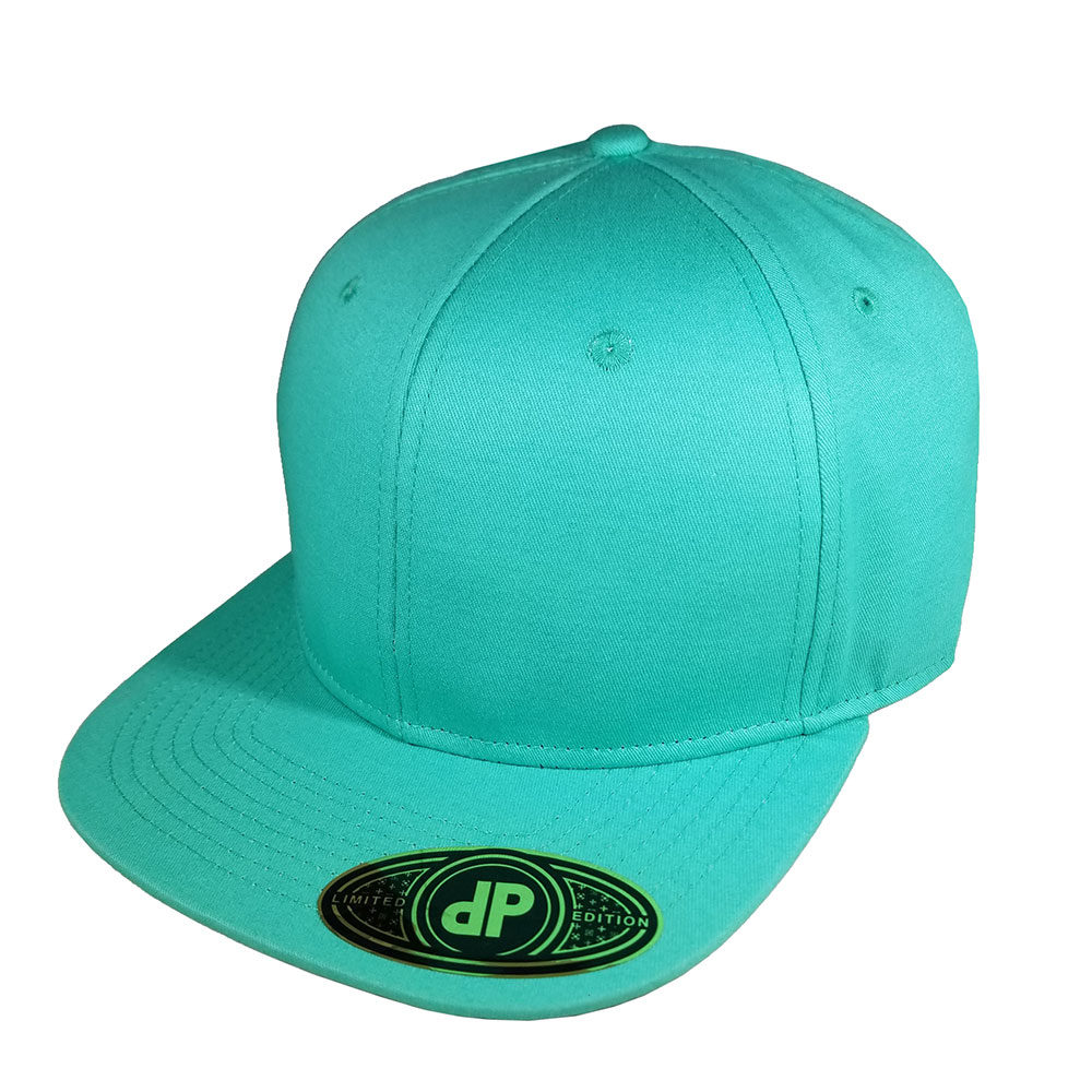 Solid-Full-All-Mint-Seafoam-Snapback-Curved-Bill-Hat-Cap