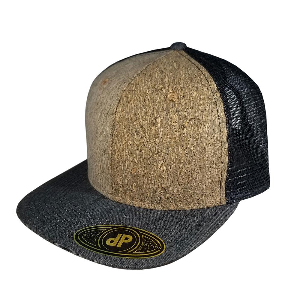 New-Cork-Black-Denim-Mesh-Snapback-Flatbill-Hat-Cap