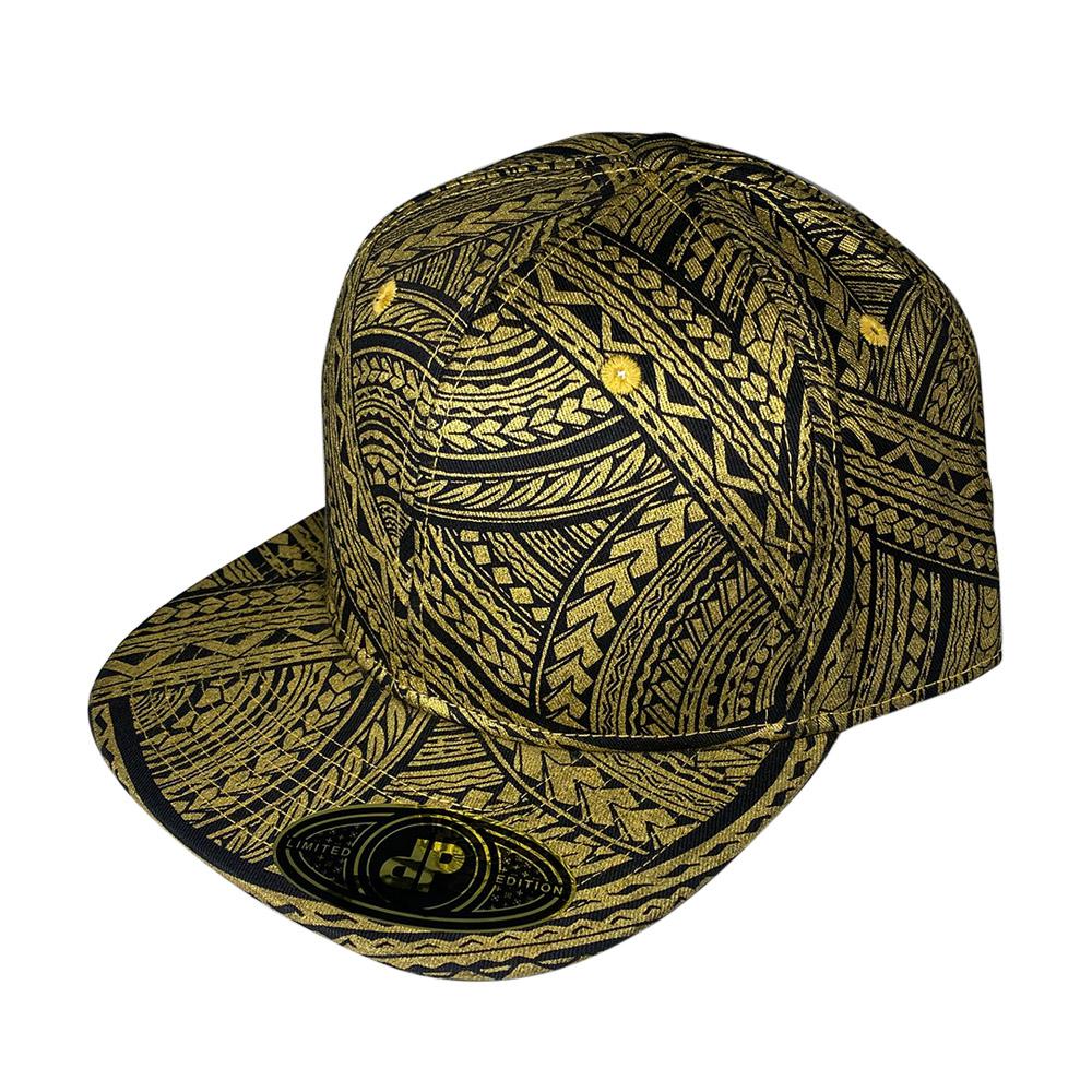 snapback-flat-bill-black-gold-tribal