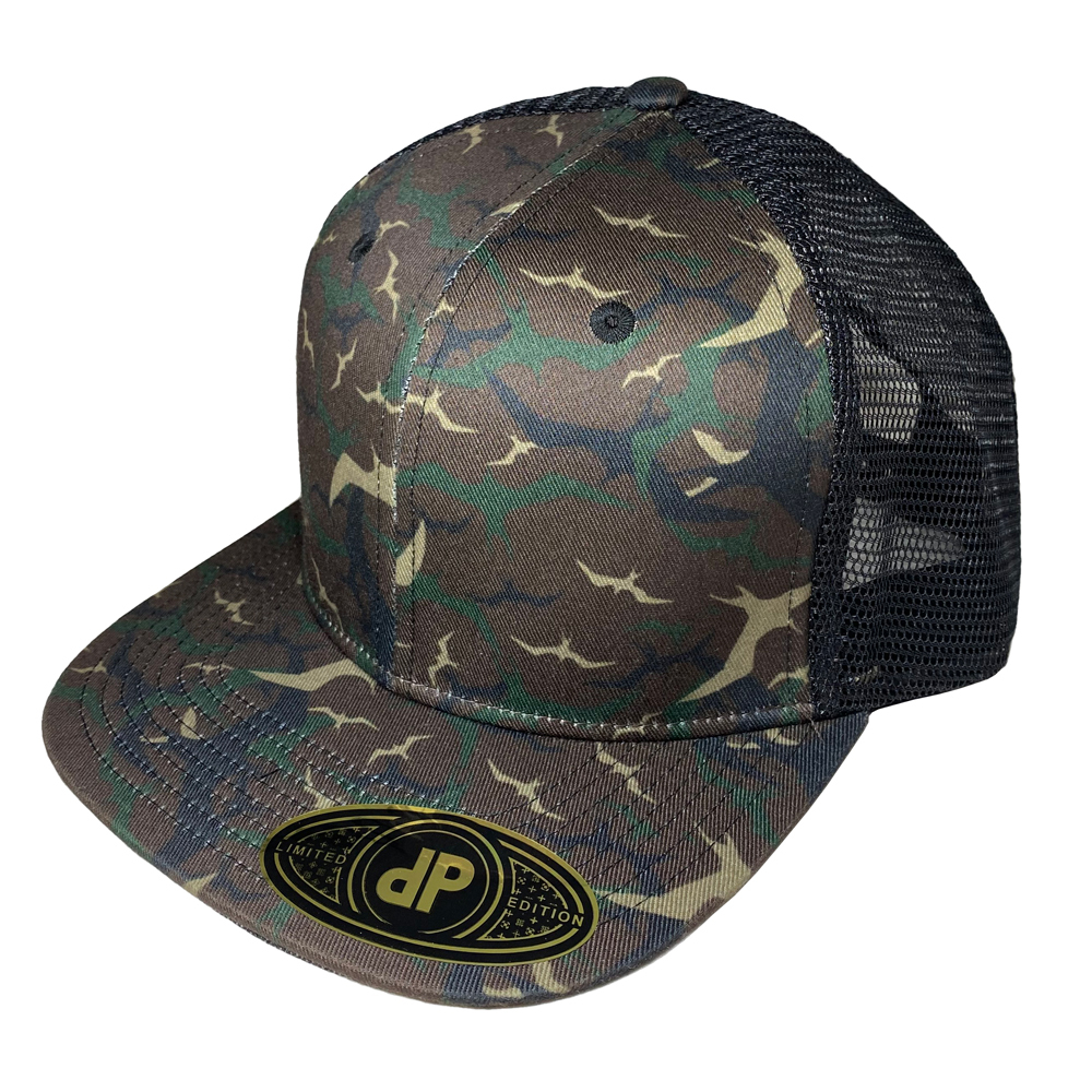 Blank-Hat-Snapback-Flatbill-Woodland-Iwa-Camo-Black-Mesh