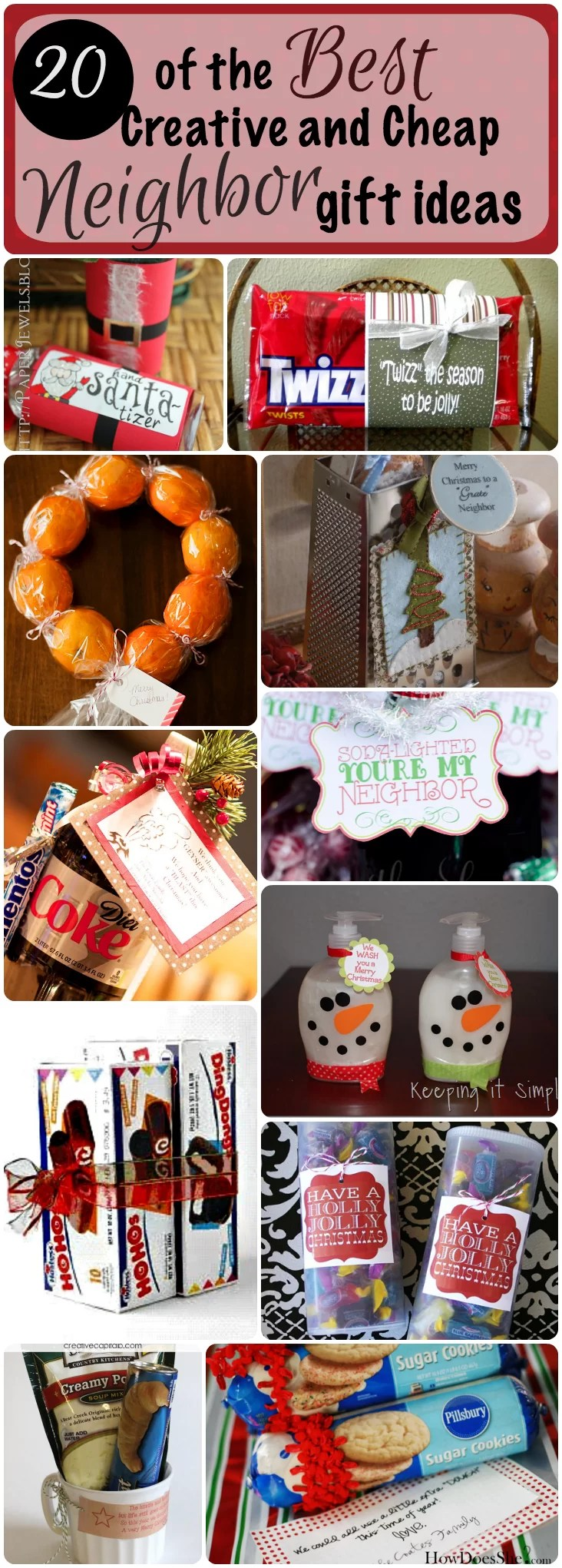 20 of the Best Creative and Cheap Neighbor Gifts for Christmas