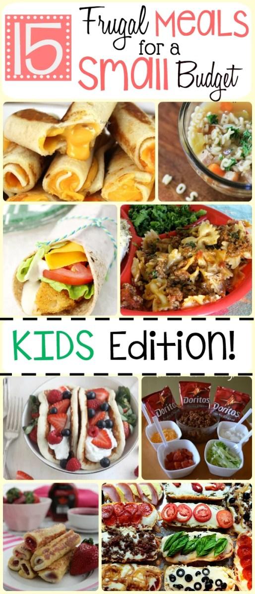 15 Frugal Meals for Kids